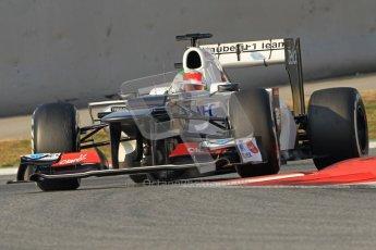 © 2012 Octane Photographic Ltd. Barcelona Winter Test 2 Day 3 - Saturday 3rd March 2012. Sauber C31 - Sergio Perez. Digital Ref : 0233cb7d9483