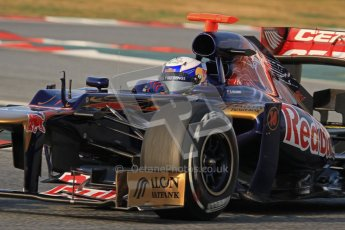 © 2012 Octane Photographic Ltd. Barcelona Winter Test 2 Day 3 - Saturday 3rd March 2012. Toro Rosso STR7 - Daniel Ricciardo. Digital Ref : 0233lw7d2512
