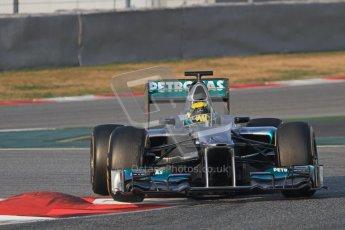 © 2012 Octane Photographic Ltd. Barcelona Winter Test Day 3 - Saturday 3rd March 2012. Mercedes W03 - Nico Rosberg. Digital Ref : 0233lw7d2593