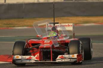 © 2012 Octane Photographic Ltd. Barcelona Winter Test 2 Day 3 - Saturday 3rd March 2012. Ferrari F2012 - Felipe Massa. Digital Ref : 0233lw7d2673