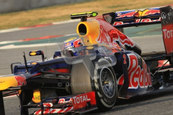 © 2012 Octane Photographic Ltd. Barcelona Winter Test 2 Day 3 - Saturday 3rd March 2012. Red Bull RB8 - Mark Webber. Digital Ref : 0233lw7d2728