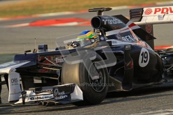 © 2012 Octane Photographic Ltd. Barcelona Winter Test 2 Day 3 - Saturday 3rd March 2012. Williams FW34 - Bruno Senna. Digital Ref : 0233lw7d2917