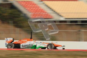 © 2012 Octane Photographic Ltd. Barcelona Winter Test 2 Day 3 - Saturday 3rd March 2012. Force India VJM05 - Paul di Resta. Digital Ref : 0233lw7d3153