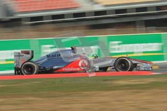 © 2012 Octane Photographic Ltd. Barcelona Winter Test 2 Day 3 - Saturday 3rd March 2012. McLaren MP4/27 - Jenson Button. Digital Ref : 0233lw7d3232