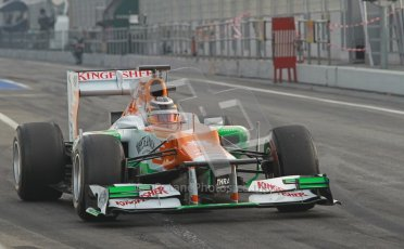 © 2012 Octane Photographic Ltd. Barcelona Winter Test 2 Day 4 - Sunday 4th March 2012. Force India VJM05 - Nico Hulkenberg. Digital Ref : 0234cb1d2816