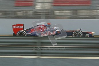 © 2012 Octane Photographic Ltd. Barcelona Winter Test 2 Day 4 - Sunday 4th March 2012. Toro Rosso STR7 - Daniel Ricciardo. Digital Ref :  0234cb1d2917