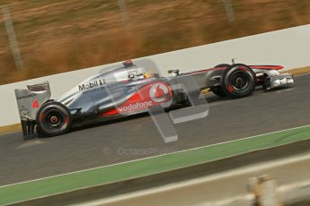 © 2012 Octane Photographic Ltd. Barcelona Winter Test 2 Day 4 - Sunday 4th March 2012. McLaren MP4/27 - Lewis Hamilton. Digital Ref : 0234cb1d3144