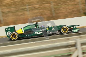 © 2012 Octane Photographic Ltd. Barcelona Winter Test 2 Day 4 - Sunday 4th March 2012. Caterham CT01 - Vitaly Petrov. Digital Ref : 0234cb1d3195
