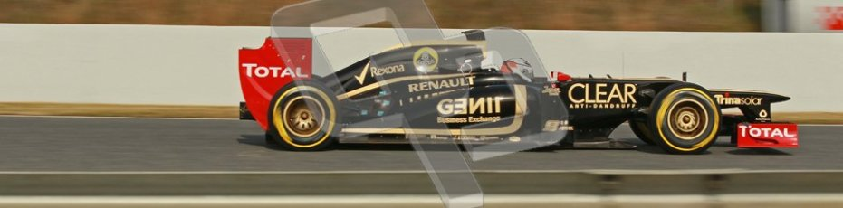 © 2012 Octane Photographic Ltd. Barcelona Winter Test 2 Day 4 - Sunday 4th March 2012. Lotus E20 - Kimi Raikkonen. Digital Ref : 0234cb1d3210