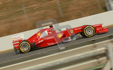 © 2012 Octane Photographic Ltd. Barcelona Winter Test 2 Day 4 - Sunday 4th March 2012. Ferrari F2012 - Fernando Alonso. Digital Ref : 0234cb1d3222