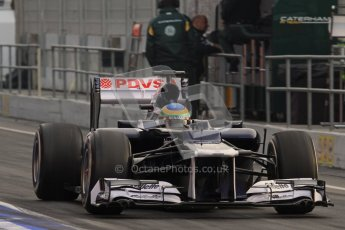 © 2012 Octane Photographic Ltd. Barcelona Winter Test 2 Day 4 - Sunday 4th March 2012. Williams FW34 - Bruno Senna. Digital Ref : 0234lw7d3821
