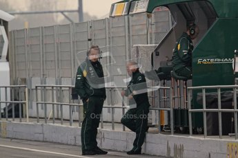 © 2012 Octane Photographic Ltd. Barcelona Winter Test 2 Day 4 - Sunday 4th March 2012. Caterham - MIke Gascoyne . Digital Ref : 0234lw7d3955