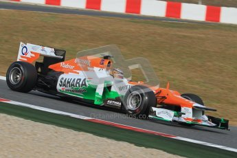 © 2012 Octane Photographic Ltd. Barcelona Winter Test 2 Day 4 - Sunday 4th March 2012. Force India VJM05 - Nico Hulkenberg. Digital Ref : 0234lw7d4818