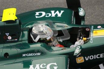 © Octane Photographic Ltd. GP2 Winter testing Barcelona Day 1, Tuesday 6th March 2012. Caterham Racing, Giedo Van der Garde. Digital Ref :