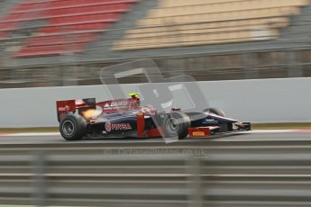 © Octane Photographic Ltd. GP2 Winter testing Barcelona Day 1, Tuesday 6th March 2012. Venezuela GP Lazarus, Giancarlo Senerelli. Digital Ref :