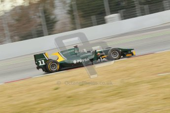 © Octane Photographic Ltd. GP2 Winter testing Barcelona Day 1, Tuesday 6th March 2012. Caterham Racing, Rodolfo Gonzales. Digital Ref : 0235cb1d3600