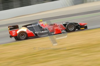 © Octane Photographic Ltd. GP2 Winter testing Barcelona Day 1, Tuesday 6th March 2012. Marussia Carlin, Rio Haryanto. Digital Ref : 0235cb1d3619