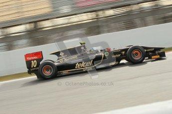 © Octane Photographic Ltd. GP2 Winter testing Barcelona Day 1, Tuesday 6th March 2012. Lotus GP, Esteban Gutierrez. Digital Ref : 0235cb1d3721