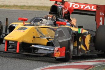 © Octane Photographic Ltd. GP2 Winter testing Barcelona Day 1, Tuesday 6th March 2012. DAMS, Davide Valsecchi. Digital Ref : 0235cb7d0326