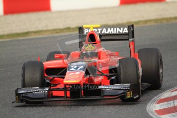 © Octane Photographic Ltd. GP2 Winter testing Barcelona Day 1, Tuesday 6th March 2012. Marussia Carlin, Rio Haryanto. Digital Ref : 0235cb7d0395