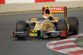 © Octane Photographic Ltd. GP2 Winter testing Barcelona Day 1, Tuesday 6th March 2012. DAMS, Felipe Nasr. Digital Ref : 0235cb7d0499