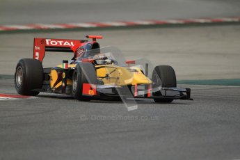 © Octane Photographic Ltd. GP2 Winter testing Barcelona Day 1, Tuesday 6th March 2012. DAMS, Davide Valsecchi. Digital Ref : 0235cb7d0608