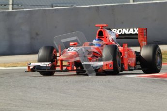 © Octane Photographic Ltd. GP2 Winter testing Barcelona Day 1, Tuesday 6th March 2012. Arden International, Simon Trummer. Digital Ref : 0235cb7d1237