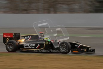 © Octane Photographic Ltd. GP2 Winter testing Barcelona Day 1, Tuesday 6th March 2012. Lotus GP, James Calado, Racing Steps. Digital Ref : 0235lw7d5646
