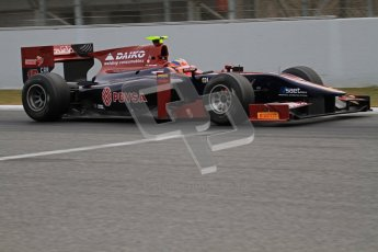 © Octane Photographic Ltd. GP2 Winter testing Barcelona Day 1, Tuesday 6th March 2012. Venezuela GP Lazarus, Giancarlo Senerelli. Digital Ref : 0235lw7d5818