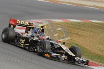© Octane Photographic Ltd. GP2 Winter testing Barcelona Day 1, Tuesday 6th March 2012. Lotus GP, Esteban Gutierrez. Digital Ref : 0235lw7d6183