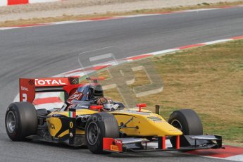 © Octane Photographic Ltd. GP2 Winter testing Barcelona Day 1, Tuesday 6th March 2012. DAMS, Davide Valsecchi. Digital Ref : 0235lw7d6255