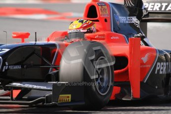 © Octane Photographic Ltd. GP2 Winter testing Barcelona Day 1, Tuesday 6th March 2012. Marussia Carlin, Rio Haryanto. Digital Ref : 0235lw7d7484