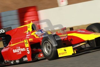 © Octane Photographic Ltd. GP2 Winter testing Barcelona Day 2, Wednesday 7th March 2012. Racing Engineering, Fabio Leimer. Digital Ref : 0236cb1d4369