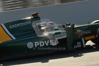 © Octane Photographic Ltd. GP2 Winter testing Barcelona Day 2, Wednesday 7th March 2012. Caterham Racing, Rodolfo Gonzales. Digital Ref : 0236cb1d4409
