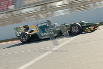 © Octane Photographic Ltd. GP2 Winter testing Barcelona Day 2, Wednesday 7th March 2012. Caterham Racing, Rodolfo Gonzales. Digital Ref : 0236cb1d4488