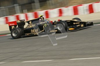 © Octane Photographic Ltd. GP2 Winter testing Barcelona Day 2, Wednesday 7th March 2012. Lotus GP, Esteban Gutierrez. Digital Ref : 0236cb1d4830