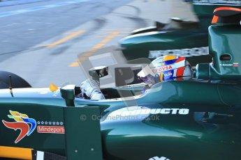 © Octane Photographic Ltd. GP2 Winter testing Barcelona Day 2, Wednesday 7th March 2012. Caterham Racing, Rodolfo Gonzales. Digital Ref : 0236cb7d1657