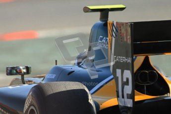 © Octane Photographic Ltd. GP2 Winter testing Barcelona Day 2, Wednesday 7th March 2012. Caterham Racing, Giedo Van der Garde. Digital Ref : 0236cb7d2061