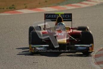 © Octane Photographic Ltd. GP2 Winter testing Barcelona Day 2, Wednesday 7th March 2012. Racing Engineering, Nathanael Berthon. Digital Ref : 0236lw7d8595