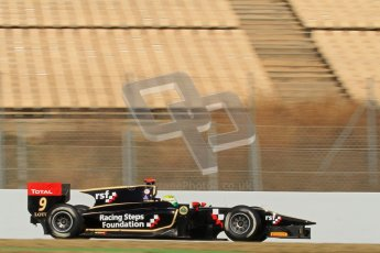 © Octane Photographic Ltd. GP2 Winter testing Barcelona Day 2, Wednesday 7th March 2012. Lotus GP, James Calado, Racing Steps. Digital Ref : 0236lw7d8969