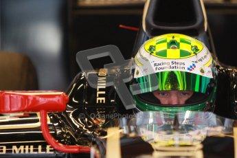 © Octane Photographic Ltd. GP2 Winter testing Barcelona Day 3, Thursday 8th March 2012. Lotus GP, James Calado, Racing Steps. Digital Ref : 0237cb1d4955