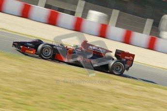 © Octane Photographic Ltd. GP2 Winter testing Barcelona Day 3, Thursday 8th March 2012. Venezuela GP Lazarus, Fabrizio Crestani. Digital Ref : 0237cb1d5332