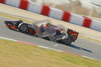 © Octane Photographic Ltd. GP2 Winter testing BarcelonaDay 3, Thursday 8th March 2012. Venezuela GP Lazarus, Giancarlo Senerelli. Digital Ref : 0237cb1d5459