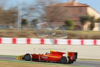 © Octane Photographic Ltd. GP2 Winter testing Barcelona Day 3, Thursday 8th March 2012. Racing Engineering, Nathanael Berthon. Digital Ref : 0237cb1d5649