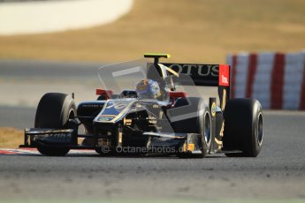 © Octane Photographic Ltd. GP2 Winter testing Barcelona Day 3, Thursday 8th March 2012. Lotus GP, Esteban Gutierrez. Digital Ref : 0237cb7d2390