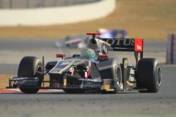 © Octane Photographic Ltd. GP2 Winter testing Barcelona Day 3, Thursday 8th March 2012. Lotus GP, James Calado, Racing Steps. Digital Ref : 0237cb7d2414