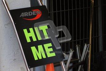 © Octane Photographic Ltd. GP2 Winter testing Barcelona Day 3, Thursday 8th March 2012. Arden International, front pitstop jack. Digital Ref : 0237lw7d9256