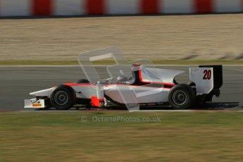 © Octane Photographic Ltd. GP2 Winter testing Barcelona Day 3, Thursday 8th March 2012. Rapax, Ricardo Teixeira. Digital Ref : 0237lw7d9826