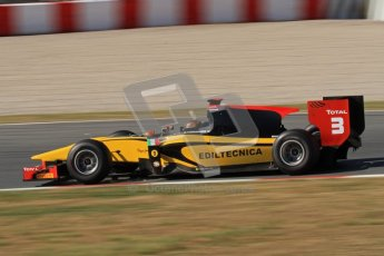 © Octane Photographic Ltd. GP2 Winter testing Barcelona Day 3, Thursday 8th March 2012. DAMS, Davide Valsecchi. Digital Ref : 0237lw7d9965