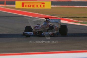 World © Octane Photographic Ltd. F1 USA - Circuit of the Americas - Friday Afternoon Practice - FP2. 16th November 2012. Ferrari F2012 - Fernando Alonso. Digital Ref: 0558lw1d1963
